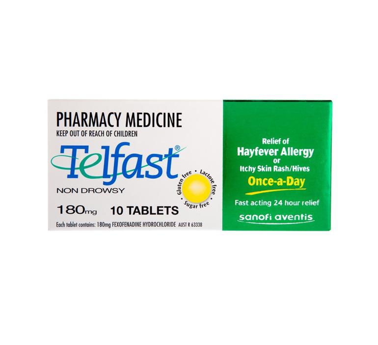 Telfast Fexofenadine 180mg 10