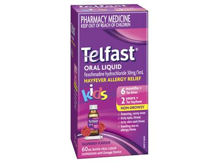 Telfast Oral Liquid 30mg / 5mL 60mL