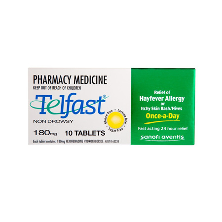 TELFAST Tablets 180mg 10s