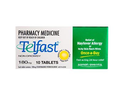 TELFAST Tablets 180mg 10s