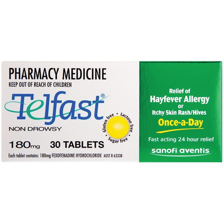 TELFAST Tablets 180mg 30