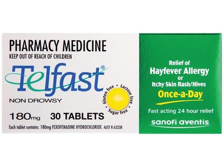 TELFAST Tablets 180mg 30