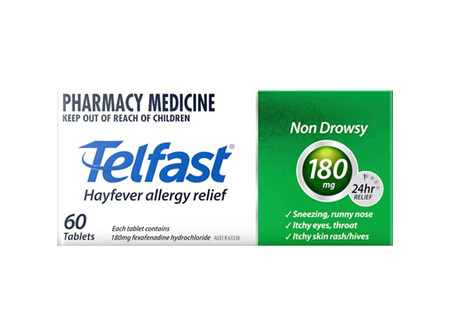 TELFAST Tablets 180mg 60s