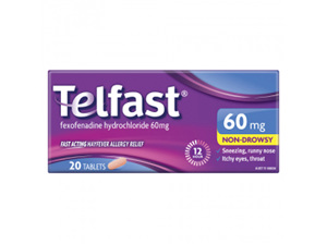 TELFAST Tablets 60mg 20s