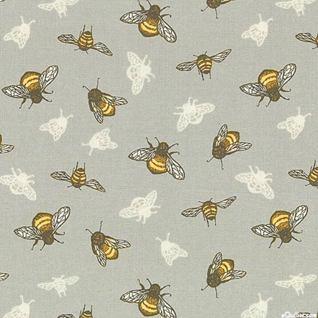 Tell the Bees Buzzing Bumblebees Grey 51439b