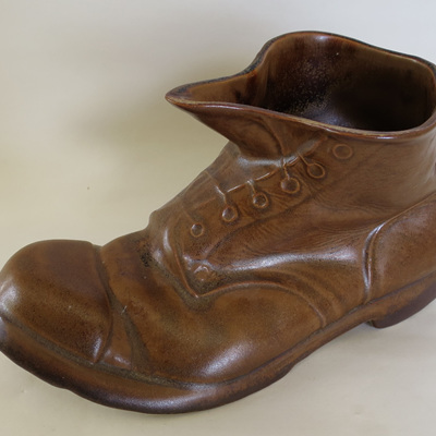 Large brown boot