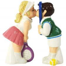 Tennis Couple Salt & Pepper
