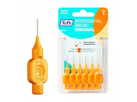 TEPE T/B I/dental Orange 0.45mm 6pk