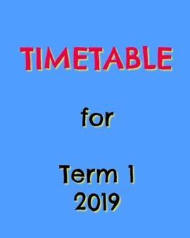 Term 1, 2019 Programme