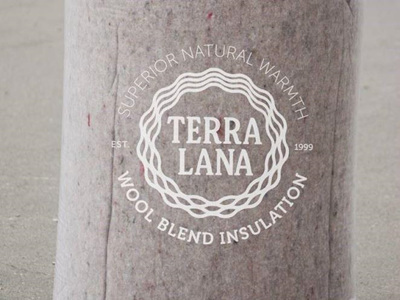 Terra Lana Skillion Roof Blanket Insulation R2.6 145mm for rafters at 600mm centres