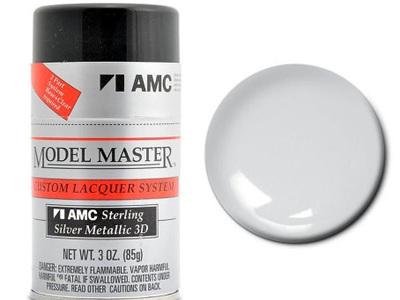 Testors Model Master Automotive Lacquer AMC Sterling Silver Metallic  Spray