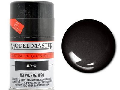 Testors Model Master Automotive Lacquer Black Spray