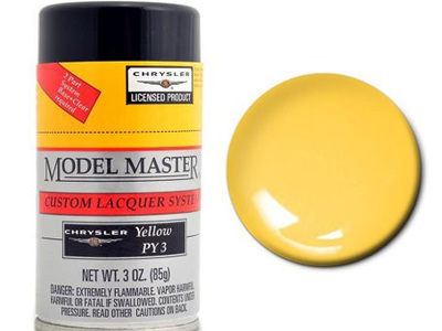 Testors Model Master Automotive Lacquer Chrysler Yellow Spray