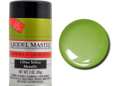 Testors Model Master Automotive Lacquer Citrus Yellow Metallic Spray