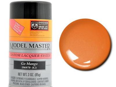 Testors Model Master Automotive Lacquer Dodge Go Mango Orange Spray