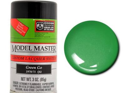 Testors Model Master Automotive Lacquer Dodge Green Go Spray