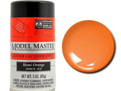 Testors Model Master Automotive Lacquer Dodge Hemi Orange Spray