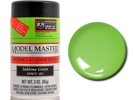 Testors Model Master Automotive Lacquer Dodge Sublime Green Spray