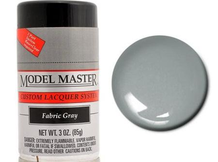 Testors Model Master Automotive Lacquer Fabric Gray Spray