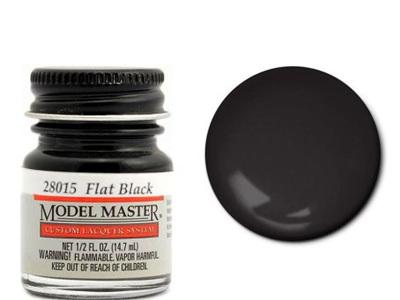 Testors Model Master Automotive Lacquer Flat Black