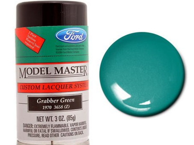 Testors Model Master Automotive Lacquer Ford Grabber Green Spray