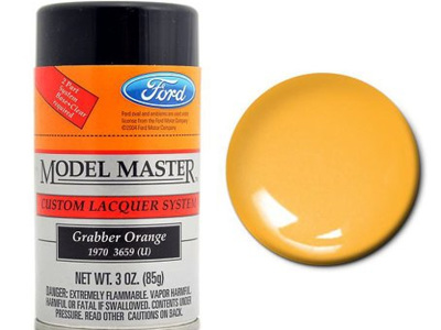 Testors Model Master Automotive Lacquer Ford Grabber Orange Spray
