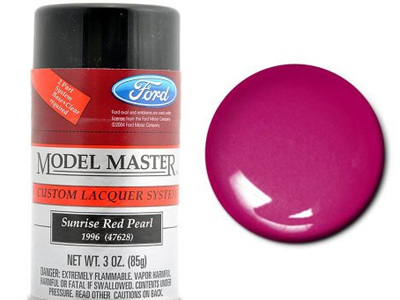 Testors Model Master Automotive Lacquer Ford Sunrise Red Pearl Spray