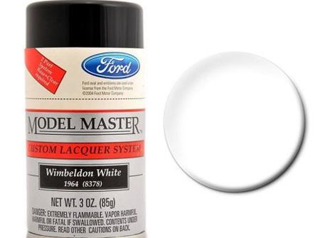 Testors Model Master Automotive Lacquer Ford Wimbeldon White Spray