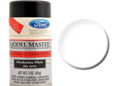 Testors Model Master Automotive Lacquer Ford Wimbeldon White Spray