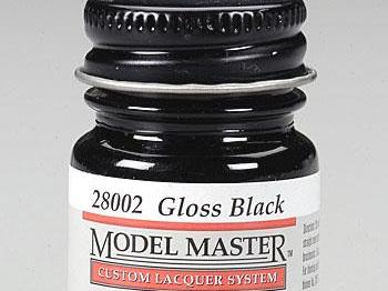 Testors Model Master Automotive Lacquer Gloss Black