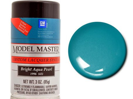 Testors Model Master Automotive Lacquer GM Bright Aqua Pearl Spray (TES28115)