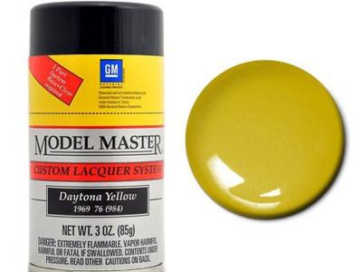 Testors Model Master Automotive Lacquer GM Daytona Yellow Spray