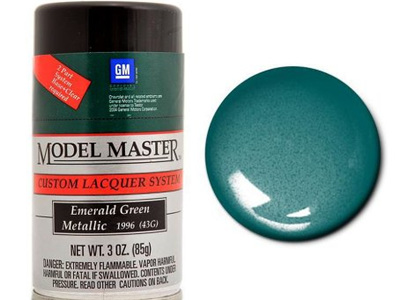 Testors Model Master Automotive Lacquer GM Emerald Green Metallic Spray