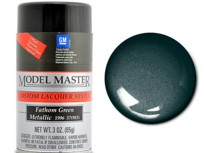 Testors Model Master Automotive Lacquer GM Fathom Green Metallic Spray