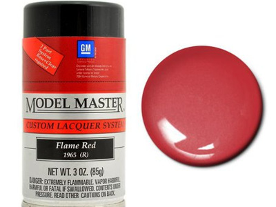 Testors Model Master Automotive Lacquer GM Flame Red Spray