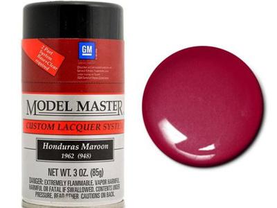 Testors Model Master Automotive Lacquer GM Hondurus Maroon Spray