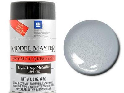 Testors Model Master Automotive Lacquer GM Light Gray Metallic Spray