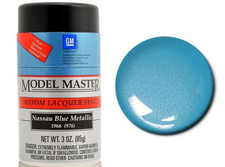 Testors Model Master Automotive Lacquer GM Nassau Blue Metallic Spray (TES28128)