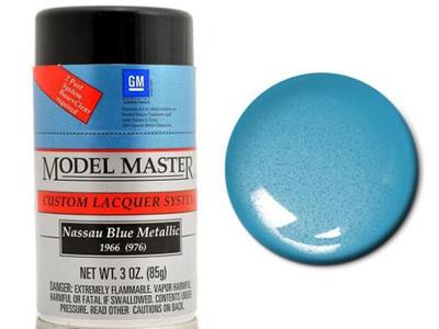 Testors Model Master Automotive Lacquer GM Nassau Blue Metallic Spray