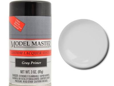 Testors Model Master Automotive Lacquer Gray Primer Spray