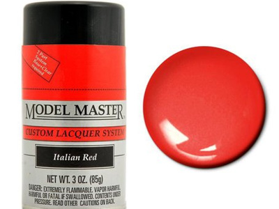 Testors Model Master Automotive Lacquer Italian Red Spray