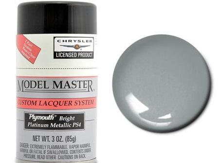 Testors Model Master Automotive Lacquer Plymouth Bright Platinum Spray