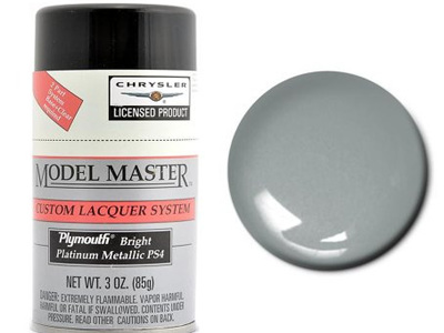 Testors Model Master Automotive Lacquer Plymouth Bright Platinum Spray
