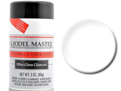 Testors Model Master Automotive Lacquer Ultra Gloss Clearcoat Spray