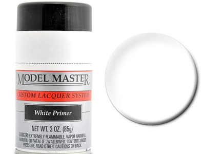 Testors Model Master Automotive Lacquer White Primer Spray