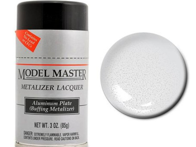 Testors Model Master Metalizer Lacquer Aluminum Plate Spray