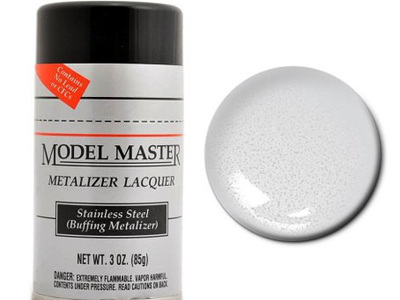 Testors Model Master Metalizer Lacquer Stainless Steel Spray