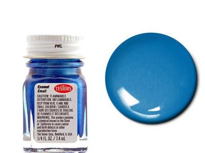 Testors Paint Enamel Blue Metal Flake