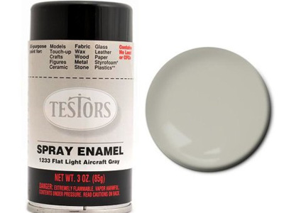 Testors Paint Enamel Flat Light Aircraft Gray Spray