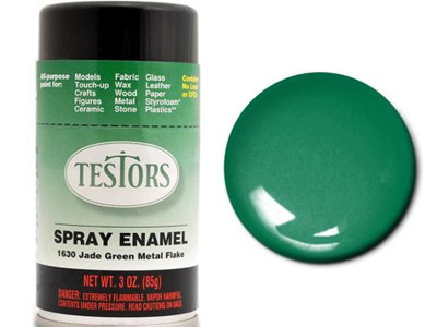 Testors Paint Enamel Green Metal Flake Spray